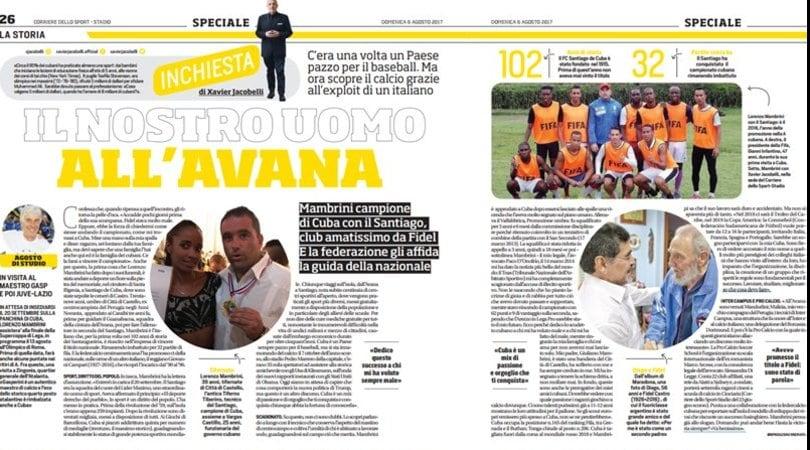Mambrini, il nostro uomo all'Avana: Cuba scopre il calcio