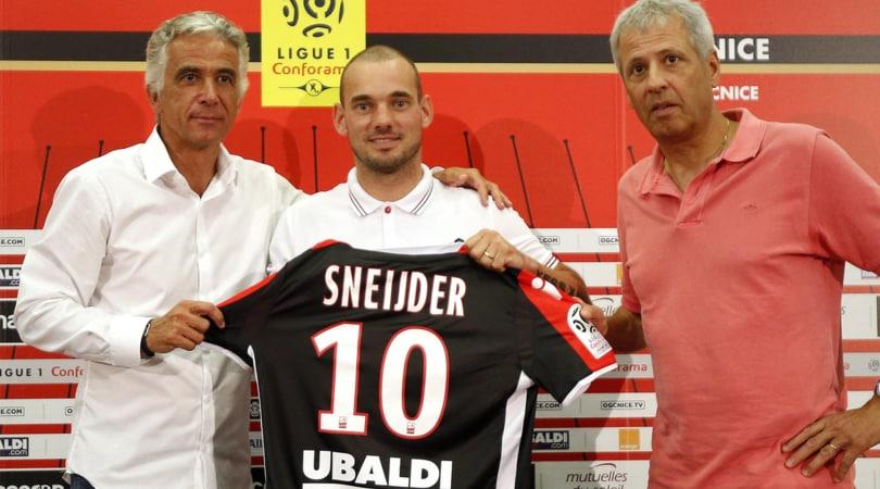 Nizza, Sneijder si presenta: «Battiamo il Napoli!»