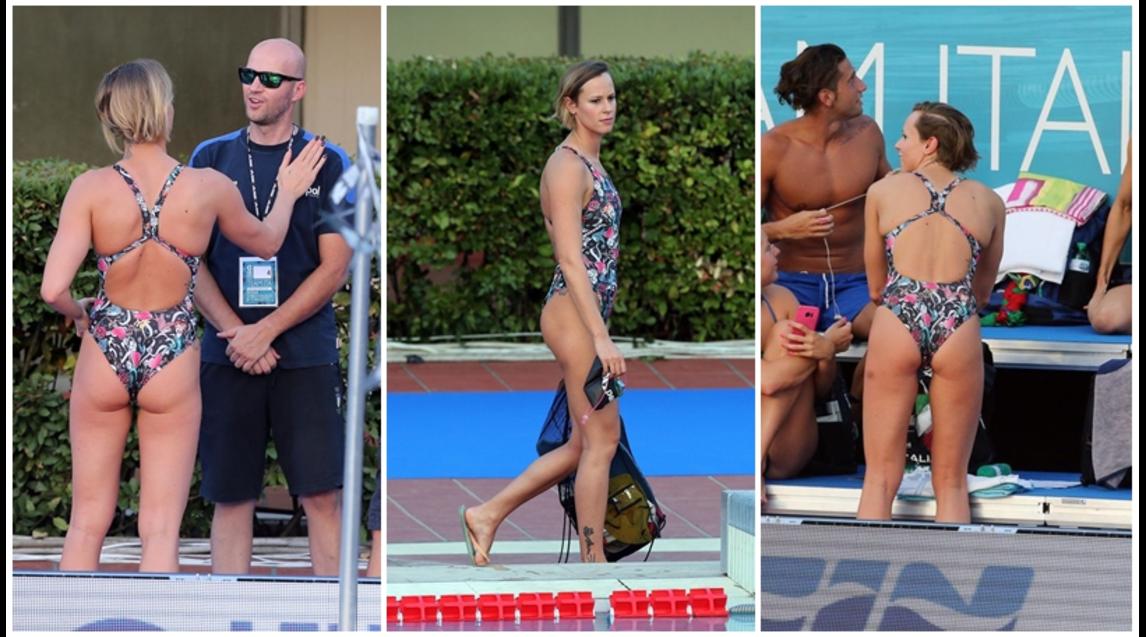 5fe5e85cabcb Federica Pellegrini, sexy regina del nuoto al Foro Italico ...