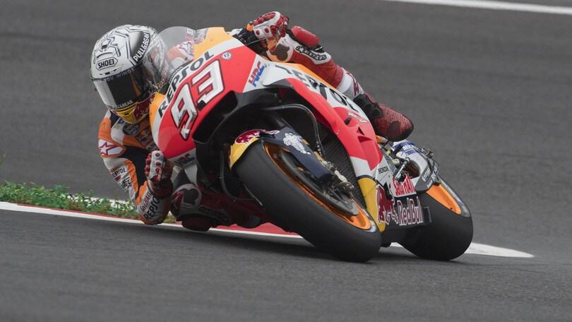 MotoGp Austria: Marquez in pole davanti alle Ducati, Rossi settimo