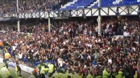 Everton-Hajduk Spalato, violenza a Goodison Park