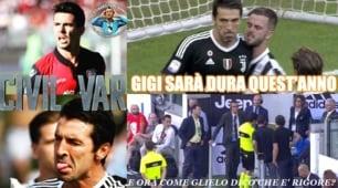Contro la Juventus il primo rigore assegnato con il Var, l'ironia sui social