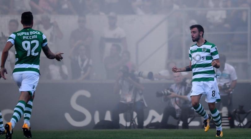 Sporting Lisbona, che doppietta Bruno Fernandes: stupendo il primo gol!