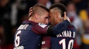 Ligue 1, il Psg dilaga con la doppietta di Neymar. Espulso Verratti
