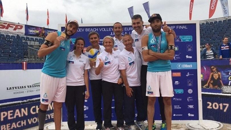 Beach Volley: Lupo-Nicolai vincono il terzo titolo Europeo consecutivo