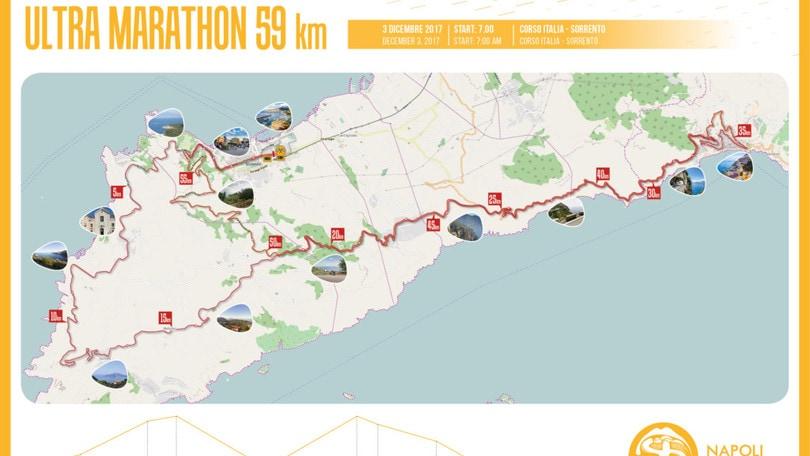 Ultramarathon: Positano-Sorrento Coast To Coast, svelato il percorso da 59km