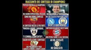 Dalla Champions all'Europa League: le ironie social sul sorteggio