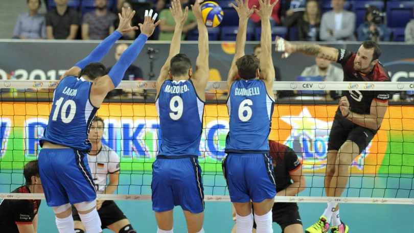 Volley: Europei, l'Italia contro la Germania si arrende al tie break