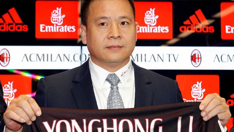 Serie A Milan, Yonghong Li è arrivato a Milano