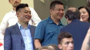 Milan-Cagliari,Li Yonghong a San Siro: «Benvenuto presidente»