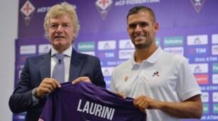 Fiorentina, la presentazione di Laurini