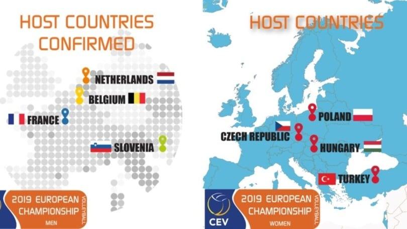 Volley: gli Europei del 2019 si giocheranno in quattro sedi