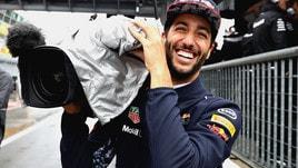 F1, a Monza Ricciardo in versione cameraman: guarda le foto