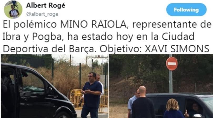 Raiola a Barcellona: «Blitz per il baby fenomeno della Masia»