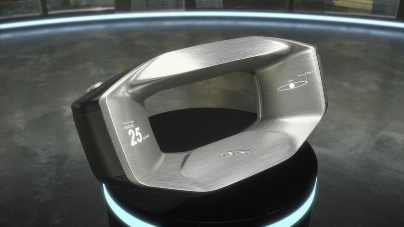 Jaguar, il volante del futuro si stacca e segue il proprietario