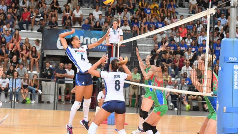 Volley: la nazionale femminile ha battuto l'Azerbaijan in amichevole