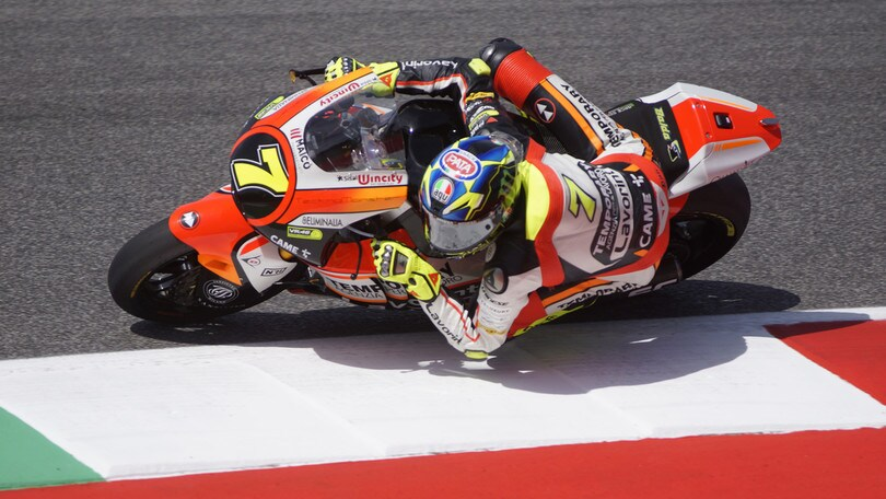 Moto2 San Marino, Baldassarri guida il warm up