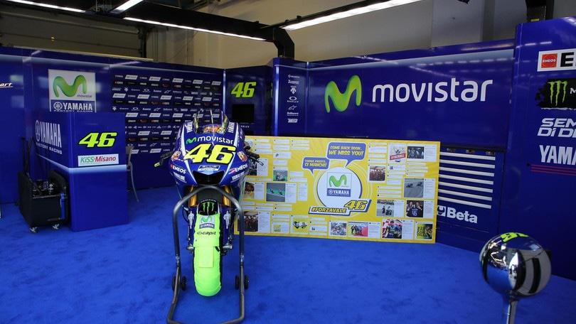 MotoGp San Marino, Rossi: «Mi dispiace non esserci»