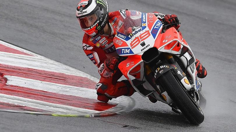 MotoGp Ducati, Lorenzo: «Peccato per la caduta»