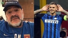 Maradona, altra bordata a Icardi: «Meglio Benedetto e Alario»