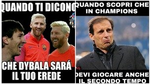 Juventus travolta 3-0 dal Barcellona... e dalle ironie sui social
