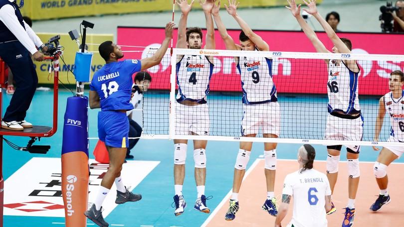 Volley: per l'Italia vittoria di prestigio contro il Brasile