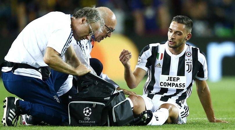 Juventus, sollievo per De Sciglio: nessuna lesione grave