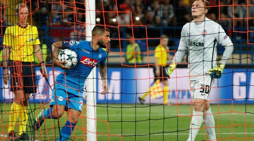 Champions League, Shakhtar Donetsk-Napoli 2-1: Taison, Ferreyra e papera di Reina. Sarri ko