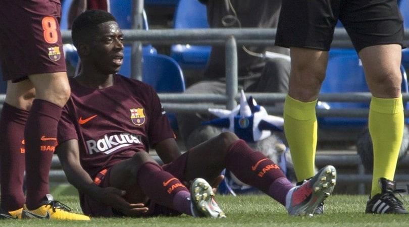 Dembélé ko, il Barcellona risparmia 10 milioni