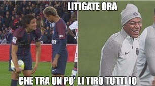 Cavani-Neymar litigano, il web non perdona
