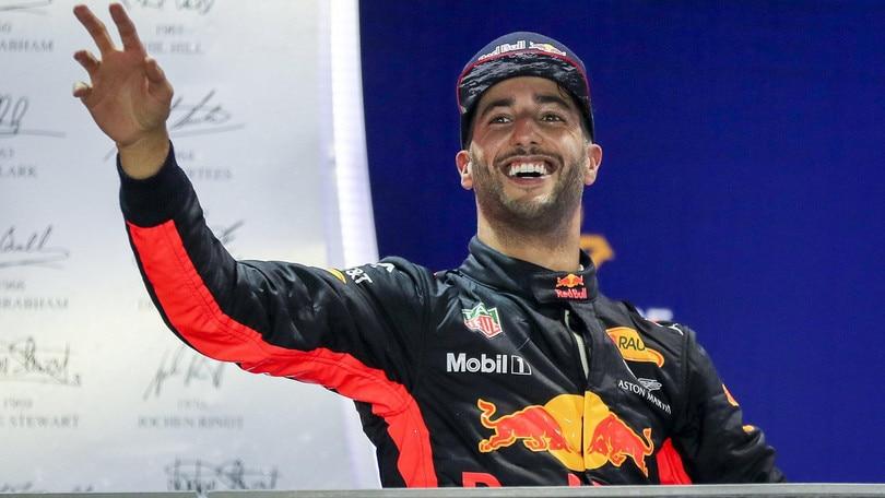 F1, Ricciardo: «Verstappen il compagno più forte»