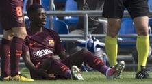 Barcellona, Dembélé operato: fuori tre mesi e mezzo