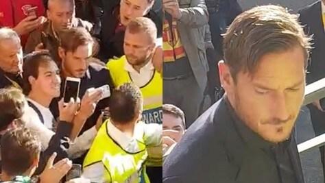 Benevento-Roma, arriva Totti: delirio al Vigorito