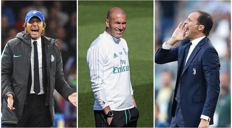 Premio Fifa: Allegri e Conte sfidano Zidane, in corsa anche Buffon e Mandzukic