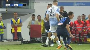 Spal-Napoli, infortunio per Milik: esce in lacrime