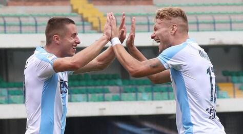 Serie A, Verona-Lazio 0-3: doppio Immobile e Marusic
