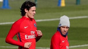 Psg, Cavani e Neymar si ignorano in allenamento