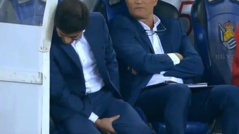 Esulta troppo al gol di Zaza: Marcelino s'infortuna