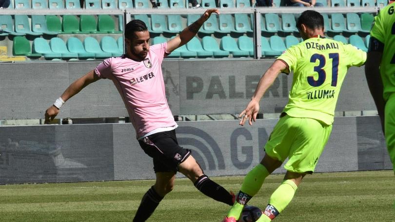 Serie B, un turno di stop a Nestorovski del Palermo