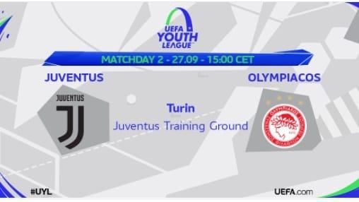 Youth League, Juventus-Olympiacos: formazioni ufficiali e diretta