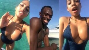 Usain Bolt, pensione dorata sullo yacht con la fidanzata Kasi