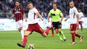 Serie A, Milan-Roma 0-2: super Dzeko e Florenzi