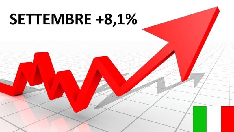Mercato auto Italia, a settembre +8,1%