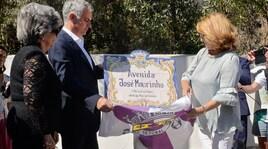 Manchester United, Mourinho inaugura una strada che porta il suo nome
