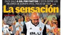 Valencia, solo Messi meglio di Zaza: «Un gol a partita, è sensazionale»