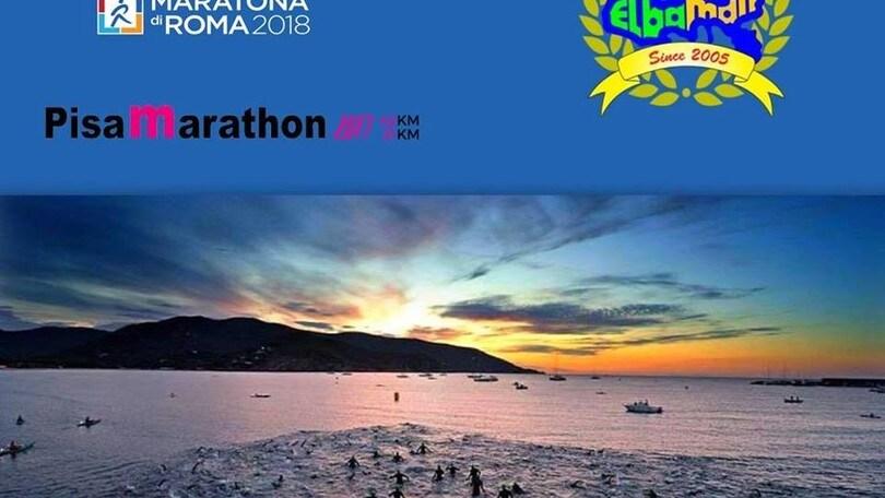 Maratone di Pisa e Roma in soccorso dei triatleti di Elbaman