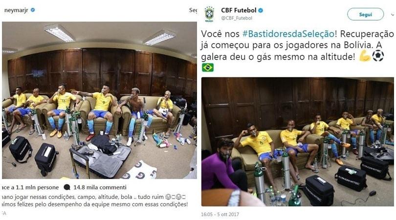 Brasile, bombole d'ossigeno ai giocatori in Bolivia!