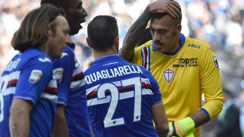 Serie A Sampdoria, 0-0 con la Carrarese: si rivedono Viviano e Regini