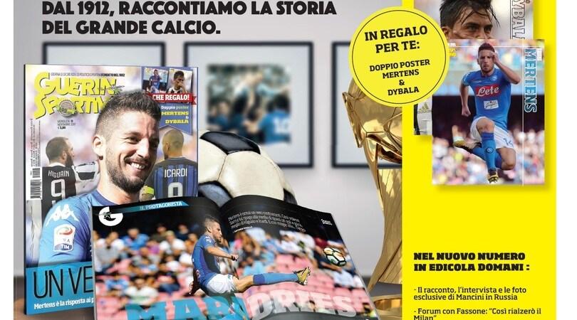 Guerin Sportivo, da domani in edicola il nuovo numero con Mertens in copertina