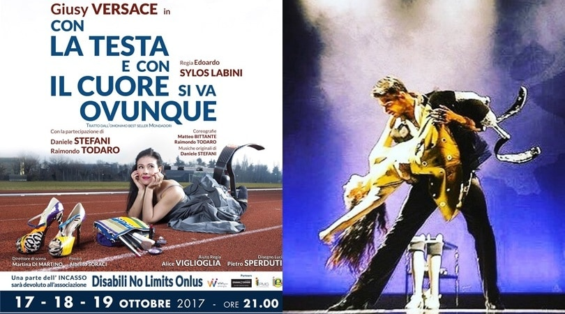 Giusy Versace a teatro con la testa e con il cuore